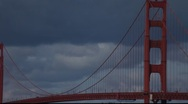 Stock Video Footage of SF Golden Gate Bridge MVI 4382