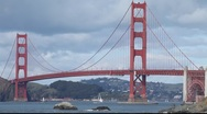 Stock Video Footage of SF Golden Gate Bridge MVI 4372