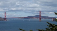 Stock Video Footage of SF Golden Gate Bridge MVI 4328