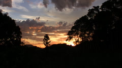 Cooroy Mountain sunset v1 Stock Footage