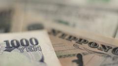 Yen to Dollars Stock Footage