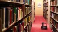 Bookshelf Pan Right Stock Footage