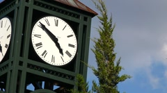 Clocktower on Partly Cloudy Day Stock Footage