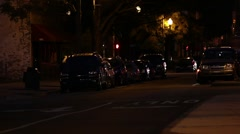 Light Street Traffic at Night - stock footage