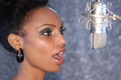 Studio singer. SD. Stock Footage