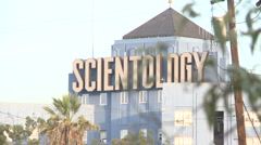 Scientology building in Los Angeles (1) Stock Footage