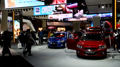 GM booth at the Canadian International Auto Show Stock Footage
