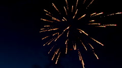 Fireworks at fourth of july - stock footage