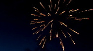 Fireworks at fourth of july Stock Footage