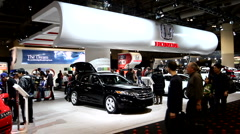 Honda booth at the Canadian International Auto Show Stock Footage