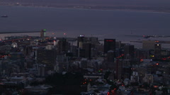 Capetown South Africa zoom out from the city Stock Footage