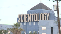 Scientology building in Los Angeles (3) Stock Footage