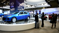 Mazda booth at the Canadian International Auto Show Stock Footage