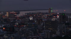 Capetown Sunset Zoom out above city3 Stock Footage