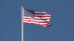 American Flag waving in the wind - stock footage