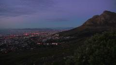 Capetown Sunset Pan across city2 Stock Footage
