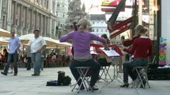 Street Musicians Vienna Austria - stock footage