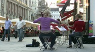 Stock Video Footage of Street Musicians Vienna Austria