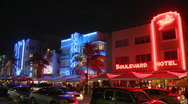 Stock Video Footage of Ocean Drive in South Beach, Miami