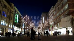 Holiday Shoppers Germany - stock footage
