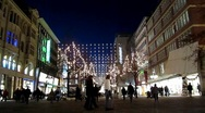 Holiday Shoppers Germany Stock Footage