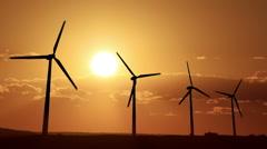 Wind turbines 07 Stock Footage