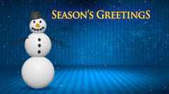 Blue Stage with Season's Greetings HD Stock Footage