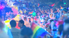 Sydney Gay & Lesbian Mardi Gras PT10 Stock Footage
