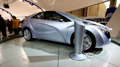 Hyundai concept electric car on display at the toronto auto show Stock Footage