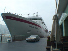 HONG KONG-SHIP-CAR-WARF 1 Stock Footage
