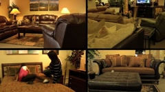 Furniture Store Multiscreen 3 Stock Footage