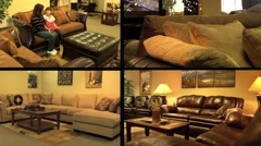 Furniture Store Multiscreen 2 Stock Footage