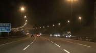 Stock Video Footage of Night Driving Motorway Timelapse