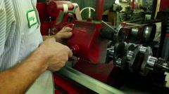 Belt Grinding Hand Shot - stock footage