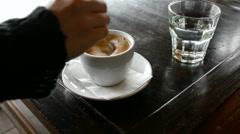 Sugar free coffee Stock Footage