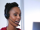 Call center. SD. Stock Footage