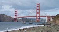 Stock Video Footage of SF Golden Gate Bridge MVI 4386