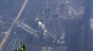 Stock Video Footage of Tagebau Hambach: bucket-wheel excavator in a lignite mine (Time lapse)