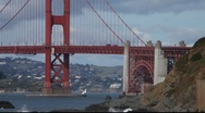 Stock Video Footage of SF Golden Gate Bridge MVI 4387