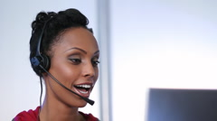 Call center. - stock footage