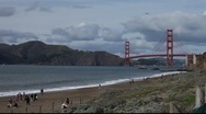 Stock Video Footage of SF Golden Gate Bridge MVI 4391
