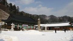 Woljeongsa Buddhist temples Stock Footage