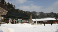Stock Video Footage of Woljeongsa Buddhist temples
