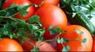 Fresh vegetables Stock Footage