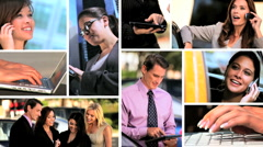 Montage of Successful Business People Stock Footage