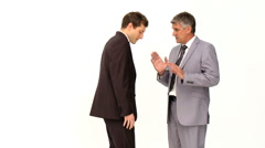Businessman giving an explanation to his employee - stock footage