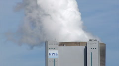 Lignite-fired power plant Niederaussem, Germany - stock footage