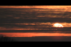 Sunset with clouds, time lapse Stock Footage