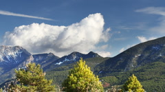 Clouds mountain range pyrenees landscape Stock Footage