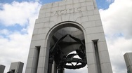 Stock Video Footage of WWII Memorial Pacific Tower 4 DC